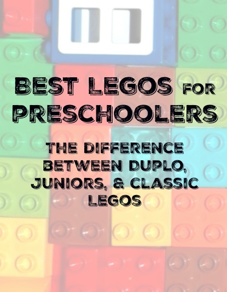 Best Legos for Preschoolers the difference between duplo, Juniors, and Classic.