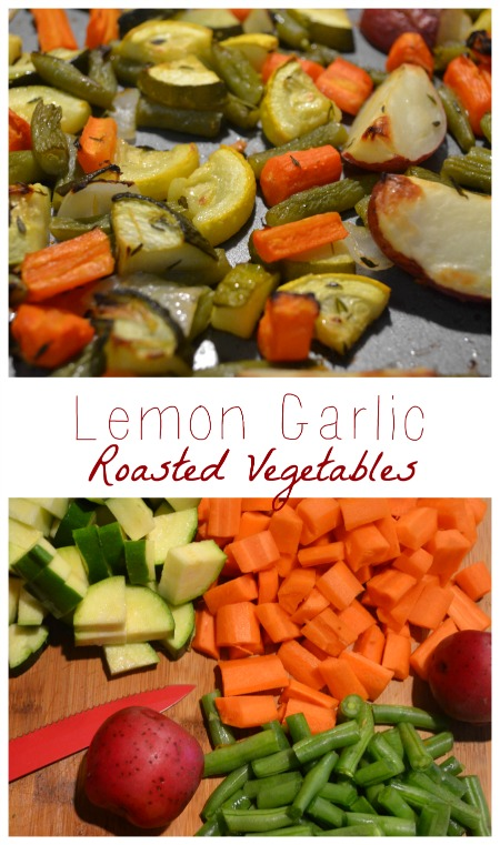 Lemon Garlic Roasted Vegetables