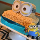 Simple Minions Marshmallow Crispie Bar Layer Cake