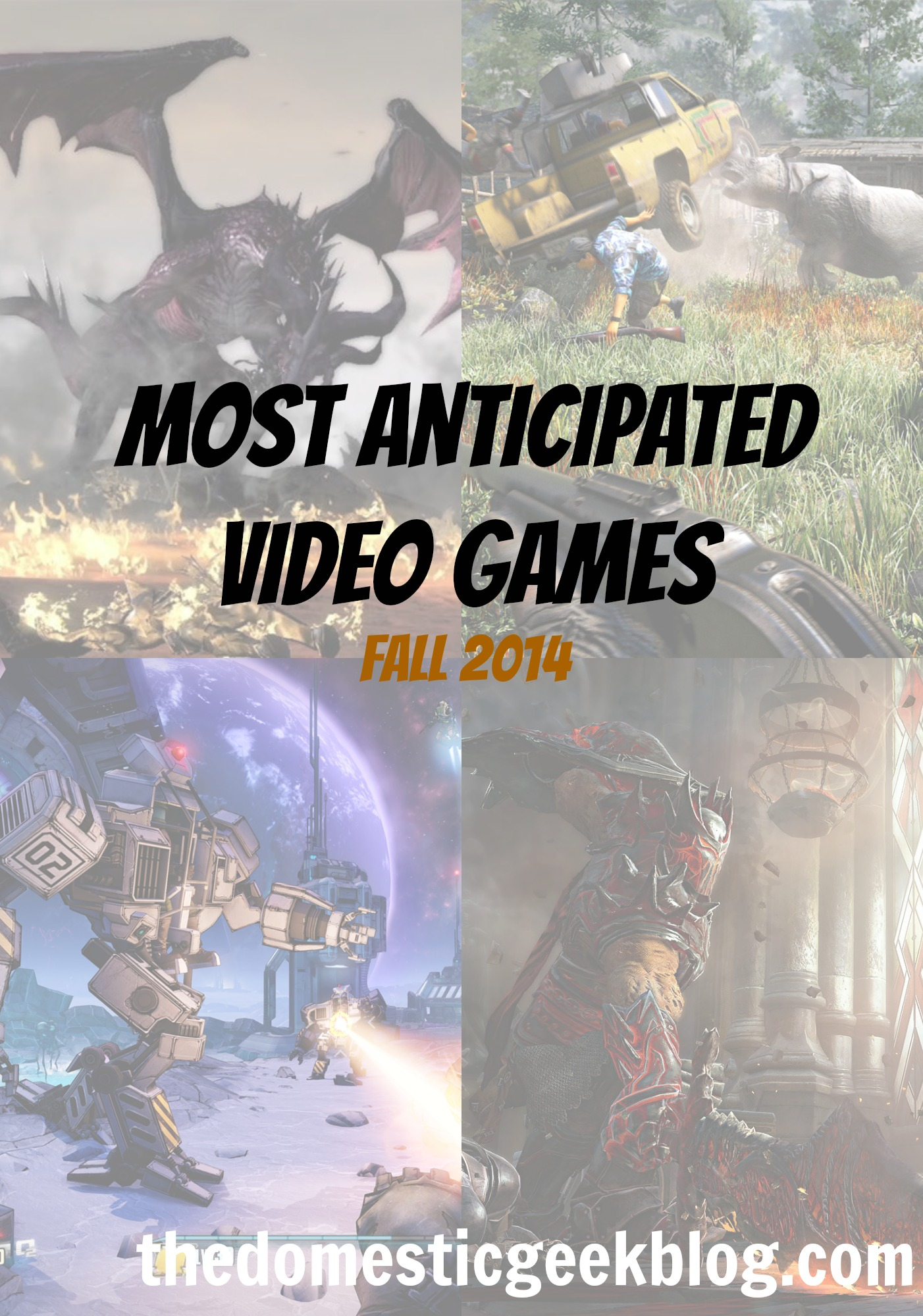 most anticipated video games fall 2014