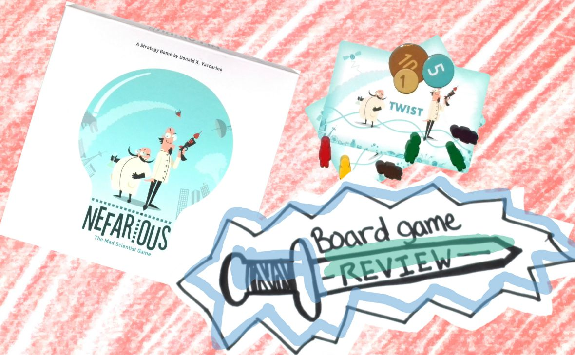 Nefarious: The Best Invented Board Game Review.