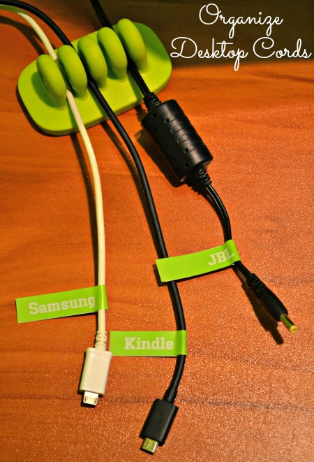 organize desktop cords