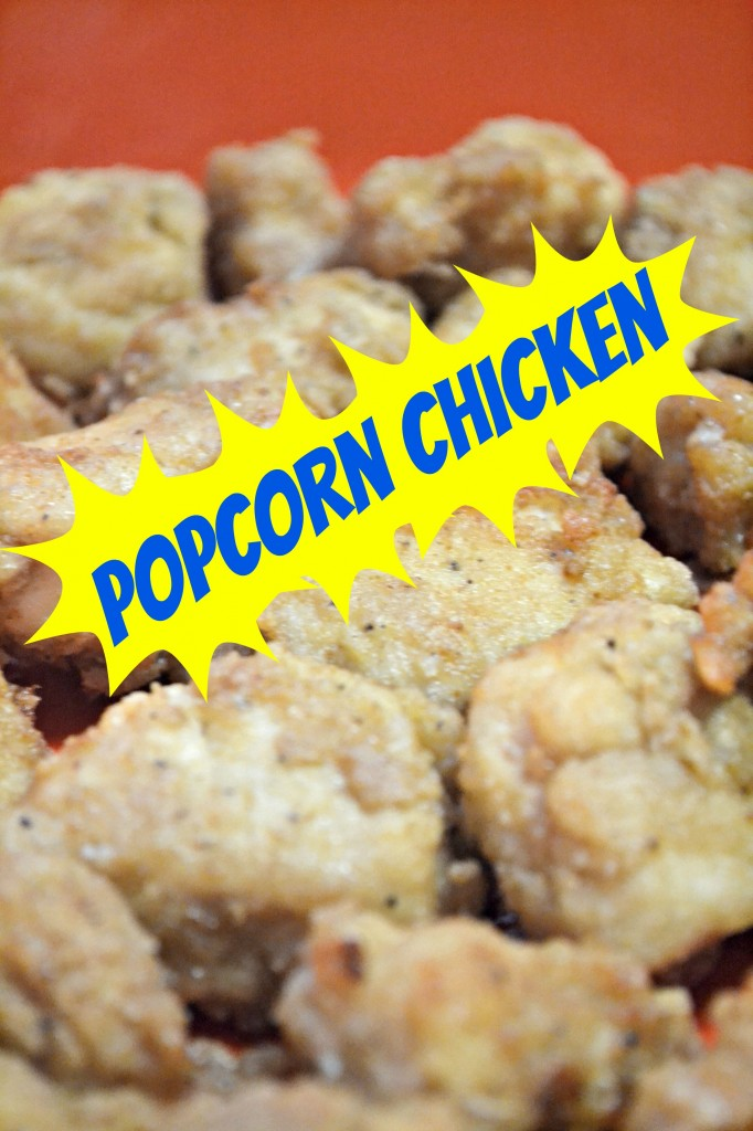 Easy popcorn chicken recipe, a healthier option fried in olive oil and the secret to a golden brown perfect batter.