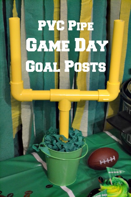 "PVC Pipe game day goal posts will add the perfect touch to any game day tablescape and your guests will get a real ""kick"" out of them!"