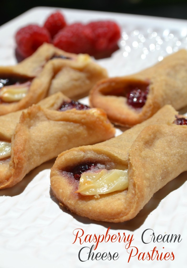 Raspberry Cream Cheese Pastries - The Domestic Geek Blog