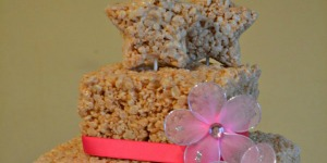 rice Krispies layer cake tutorial