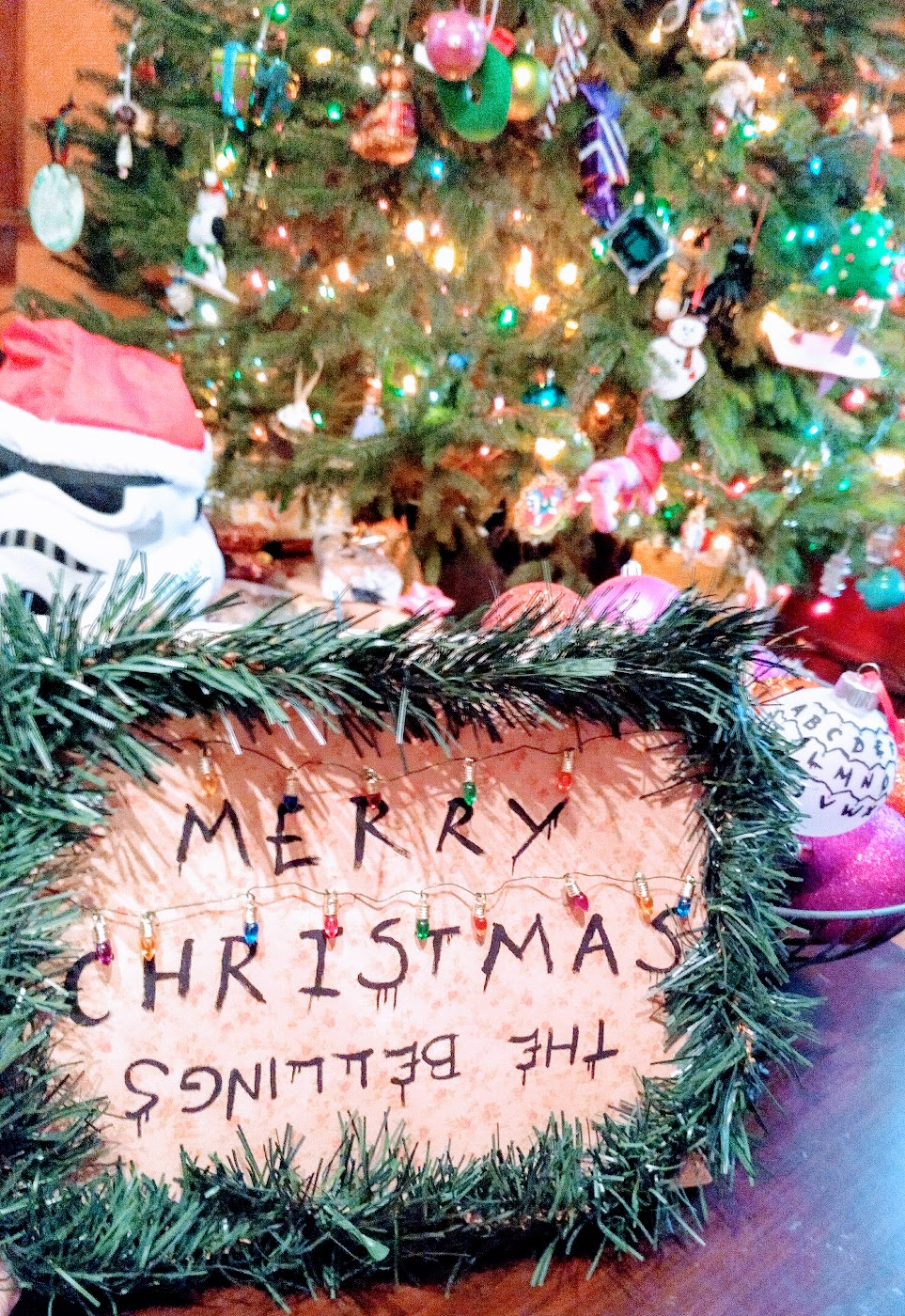 leveling up our geeky christmas decor the domestic geek blog - Stranger Things Christmas Decorations