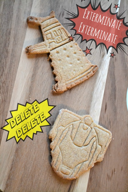 Tardis and Cybermen Doctor Who cookies. Exterminate...delete...which is the scariest phrase?