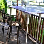 upcycled pub table with bar stools