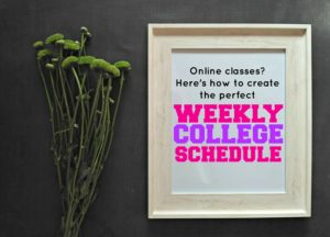 How to create the perfect weekly college schedule for online classes