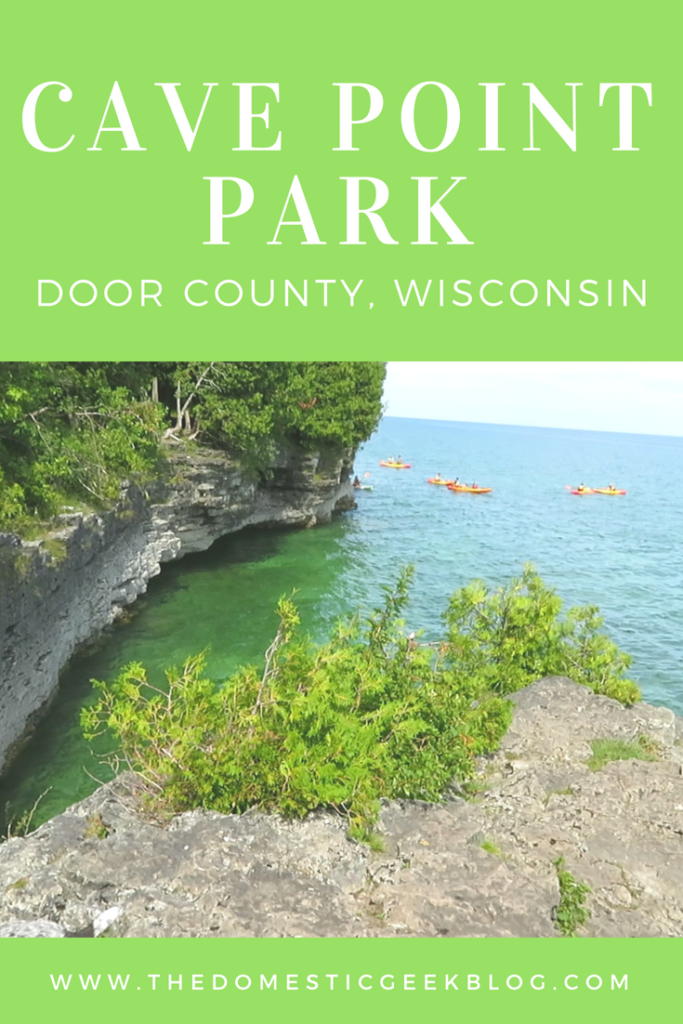 Hiking at Cave Point Park in Door County, Wisconsin. This beautiful dog friendly hike on Lake Michigan is perfect for your family during your Midwest vacation.