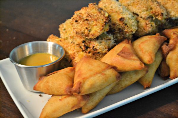 yellow curry chicken tenders Indian appetizers